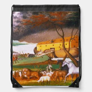 Edward Hicks Noah's Ark Drawstring Backpack