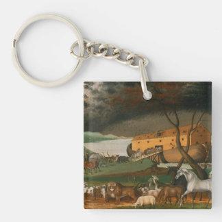 Edward Hicks - Noah's Ark Square Acrylic Key Chains