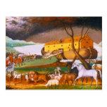 Edward Hicks Noah's Ark Postcard