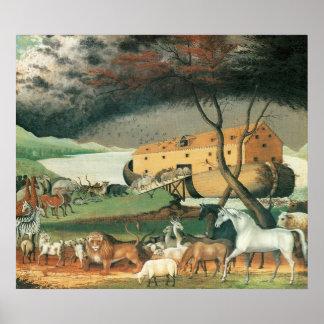 Edward Hicks Noah's Ark Poster