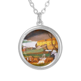 Edward Hicks Noah's Ark Silver Plated Necklace