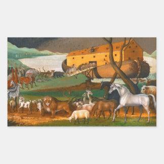 Edward Hicks Noah's Ark Rectangle Sticker