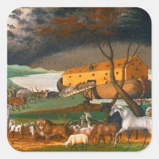 Edward Hicks Noah's Ark Square Sticker