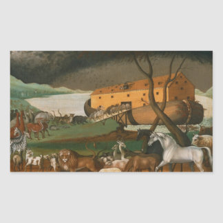 Edward Hicks - Noah's Ark Rectangular Stickers