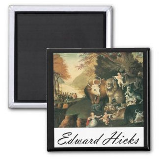 Edward Hicks Peaceable Kingdom 2 Inch Square Magnet
