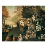Edward Hicks Peaceable Kingdom Poster