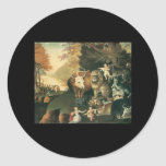 Edward Hicks Peaceable Kingdom Round Stickers