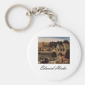 Edward Hicks Residence of David Twining Keychain
