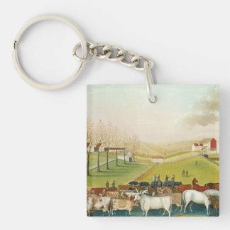 Edward Hicks - The Cornell Farm Acrylic Keychain