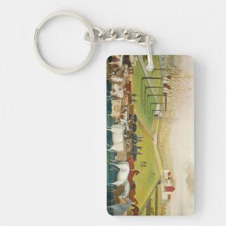 Edward Hicks - The Cornell Farm Rectangle Acrylic Key Chains