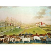 Edward Hicks - The Cornell Farm Statuette
