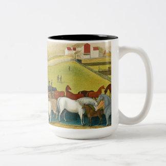 Edward Hicks - The Cornell Farm Two-Tone Coffee Mug