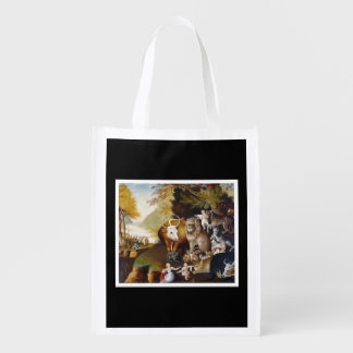 Edward Hicks - The Peaceable Kingom - Reusable Reusable Grocery Bag