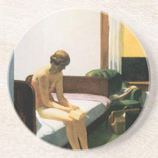 Edward Hopper Hotel Room Drink Coaster