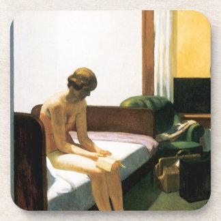 Edward Hopper Hotel Room Drink Coasters