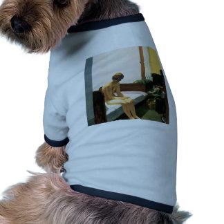 Edward Hopper Hotel Room Doggie Tshirt