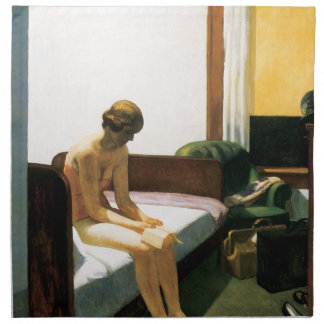 Edward Hopper Hotel Room Cloth Napkins