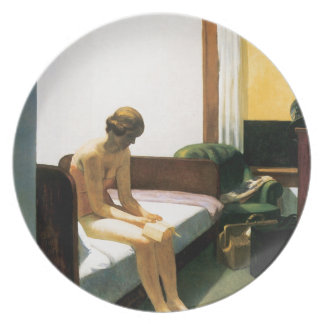 Edward Hopper Hotel Room Plate