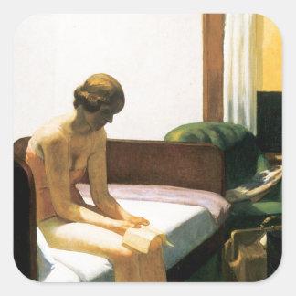 Edward Hopper Hotel Room Square Sticker