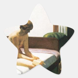 Edward Hopper Hotel Room Star Sticker