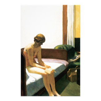 Edward Hopper Hotel Room Custom Stationery