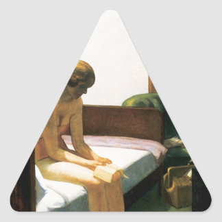 Edward Hopper Hotel Room Triangle Sticker