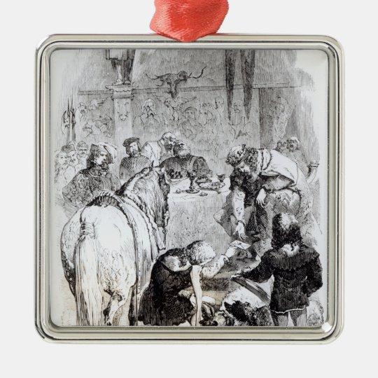 Edward II  and the Minstrel Metal Ornament