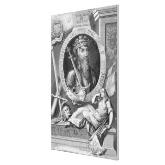 Edward III (1312-77) King of England from 1327, af Canvas Print