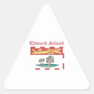Edward_Island Canada coat of arms design Triangle Sticker