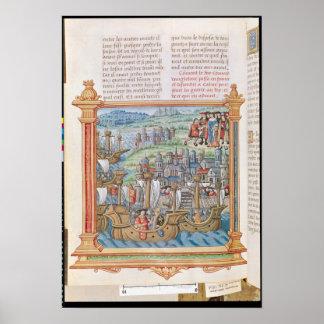 Edward IV of England landing in Calais Print