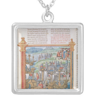 Edward IV of England landing in Calais Silver Plated Necklace