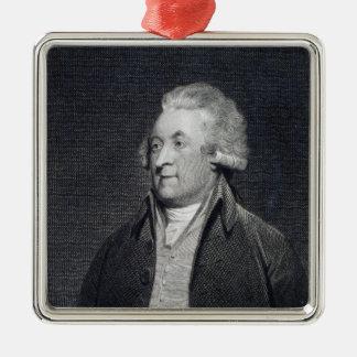 Edward Jerningham , 1794 Square Metal Christmas Ornament