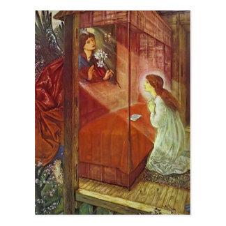 Edward Jones: The Annunciation. The Flower of God Postcard