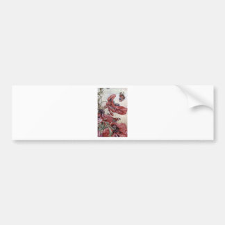 Edward Julius Detmold Poppies And Butterflies Bumper Sticker