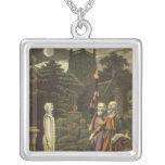 Edward Kelly Square Pendant Necklace