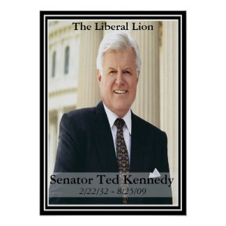 Edward Kennedy  Commemorative Poster