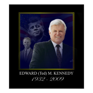 Edward Kennedy con Jack y Bobby Poster