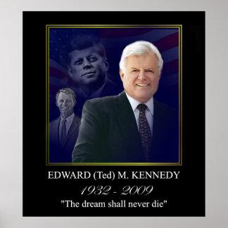Edward Kennedy con Jack y Bobby Póster