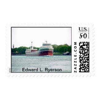 Edward L. Ryerson with Huron Light Ship Postage