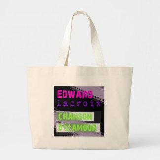 Edward Lacroix Merchandise Black Design Leinentasche