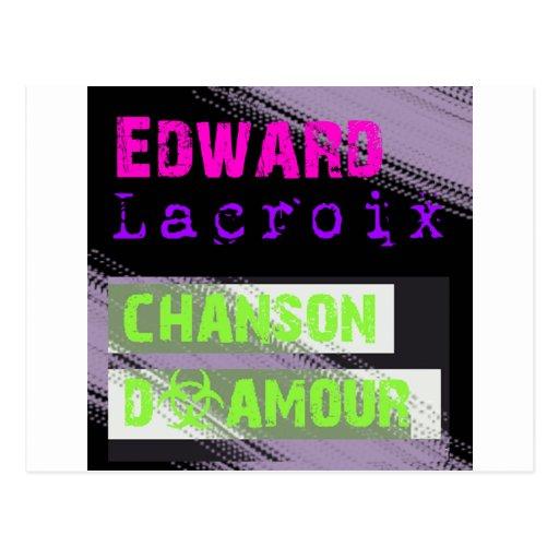 Edward Lacroix Merchandise Black Design Postcard