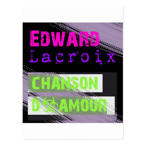 Edward Lacroix Merchandise Black Design Post Card