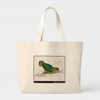 Edward Lear s Abyssinian Parakeet Canvas Bags