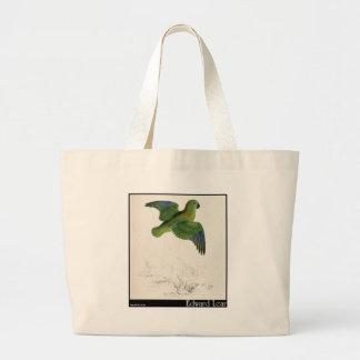 Edward Lear s Collared Parakeet in flight Canvas Bag