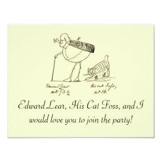 """Edward Lear y Foss Invitación 4.25"""" X 5.5"""""""