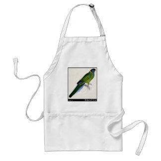 Edward Lear's Bauer's Parakeet Adult Apron