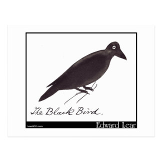 Edward Lear's Black Bird Postcard