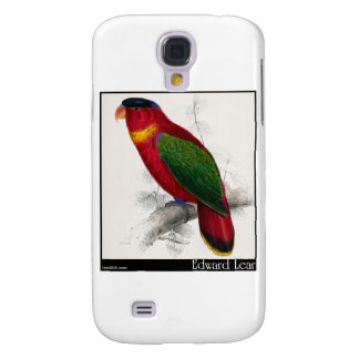 Edward Lear's Black-Capped Lory Galaxy S4 Covers