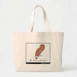 Edward Lear's Brown Bird Canvas Bags