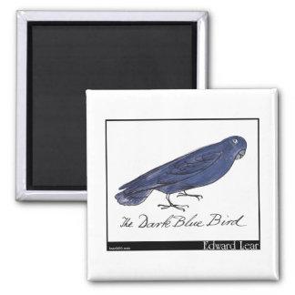 Edward Lear's Dark Blue Bird Magnet